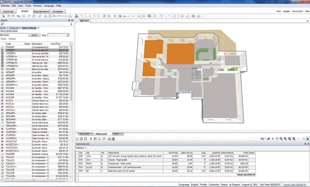 Xactimate Roofing Codes